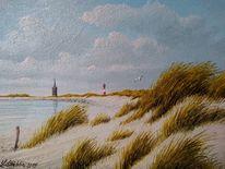 Sand, Meer, Strand, Malerei