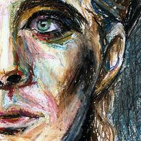 Gesicht, Portrait, Leere, Pastellmalerei