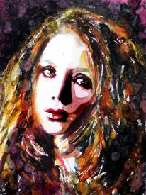 Blick, Portrait, Ausdruck, Frau