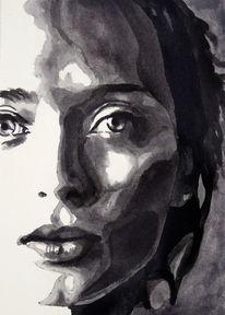 Blick, Ausdruck, Frau, Portrait