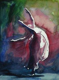 Musik, Tanz, Aquarellmalerei, Ballett