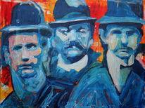 Mann, Figurativ, Menschen, Blau