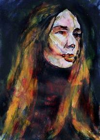 Gesicht, Farben, Frau, Menschen