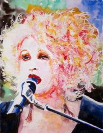 Sänger, Mikrofon, Portrait, Haare