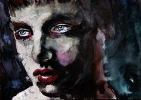 Menschen, Aquarellmalerei, Mann, Ausdruck