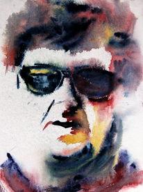 Portrait, Mann, Farben, Menschen