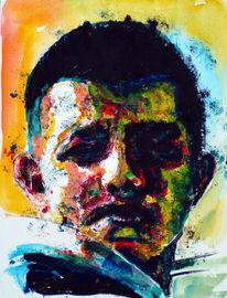 Farben, Junge, Aquarellmalerei, Gesicht