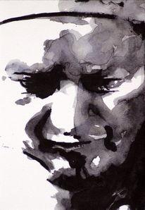 Menschen, Monochrom, Gesicht, Blick