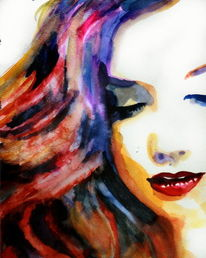 Portrait, Haare, Frau, Ausdruck