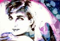 Prinzessin, Aquarellmalerei, Lady di, Portrait