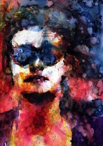 Brille, Farben, Menschen, Frau