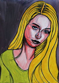 Blick, Blond, Ausdruck, Menschen