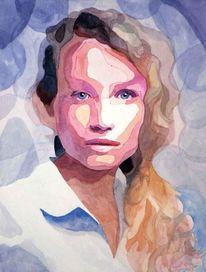 Augen, Portrait, Blick, Haare