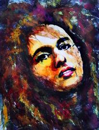 Gesicht, Farben, Portrait, Frau