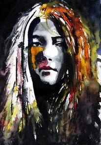 Blick, Portrait, Gesicht, Menschen