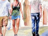 Körper, Aquarellmalerei, Menschen, Bein