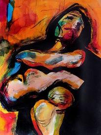 Abstrakt, Expressionismus, Menschen, Frau