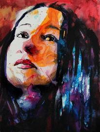 Menschen, Ausdruck, Farben, Frau