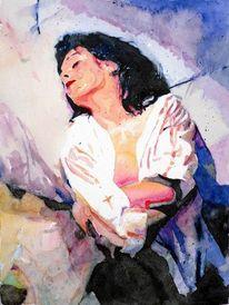 Schatten, Aquarellmalerei, Schlaf, Bett