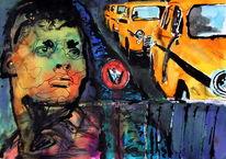 Expressionismus, Gesicht, Ausdruck, Farben