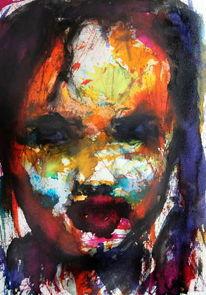 Farben, Kind, Menschen, Ausdruck