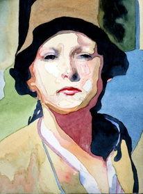 Frau, Blick, Portrait, Ausdruck