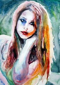 Frau, Licht, Gesicht, Farben