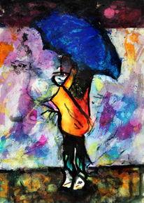 Figural, Abstrakt, Schirm, Menschen