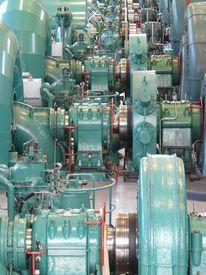 Maschine, Kraftwerk, Grün, Blau