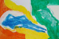 Akt, Abstrakt, Tusche, Malerei