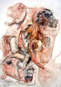 Schädel, Farben, Signatur, Zeichnungen