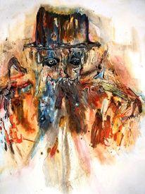 Gesicht, Hut, Hutmacher, Malerei