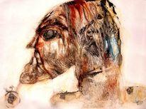 Kopf, Gesicht, Augen, Malerei