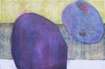 Gelb, Weiß, Violett, Malerei