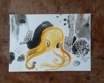 Tintenfisch, Meer, Tiefsee, Krake
