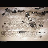 Pony, Wasser, Esel, Meer