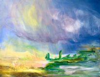 Sturm, Wasser, Himmel, Acrylmalerei