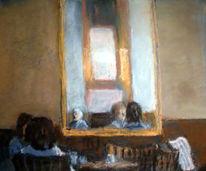 Cafe, Spiegel, Malerei