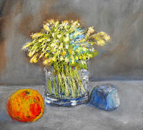 Blumen, Apfel, Malerei