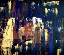 Schwarz, Abstrakt, Wischtechnik, Acrylmalerei