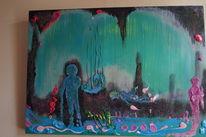 Nordpol, Gehen, Menschen, Malerei