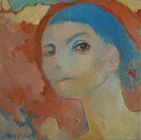 Menschen, Frau, Ölmalerei, Melancholie