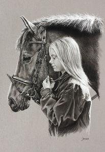 Pony, Pferde, Mädchen, Menschen