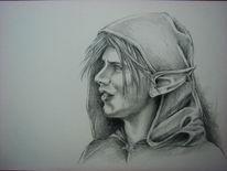 Cloak, Elfen, Ohrringe, Earring