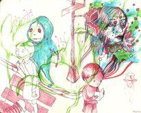 Zeichnungen, Bad,