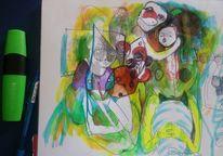 Balkon, Boah, Bauch, Zeichnungen