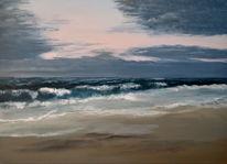 Wolken, Traum, Küste, Malerei