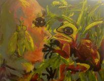 Frisch, Fliege, Gesicht, Malerei