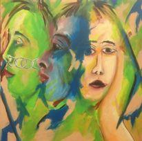 Portrait, Ring, Malerei, Geschwister