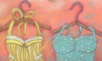 Badeanzug, Bügel, Malerei